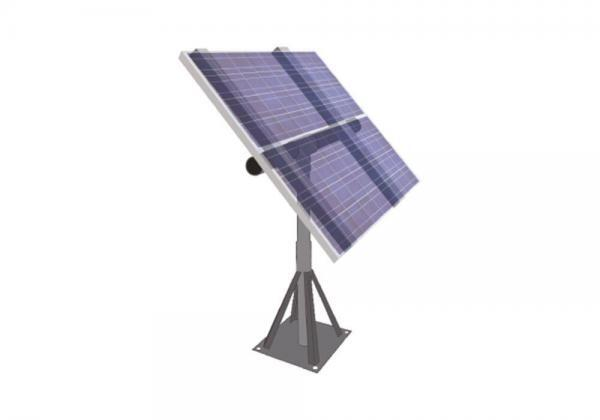 Aurinkopaneelin asennusteline maajalustalla