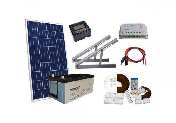 Solar 100W mökkijärjestelmä