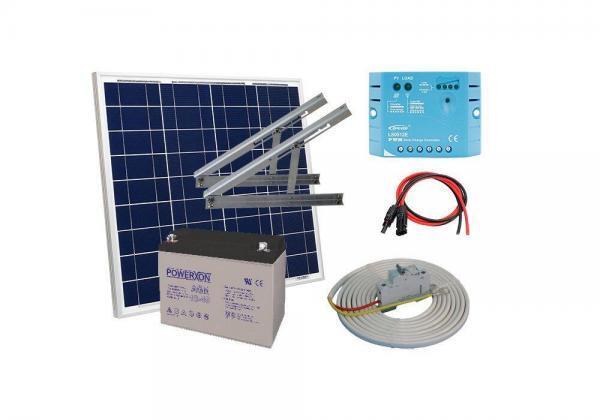 Solar 50W mökkijärjestelmä