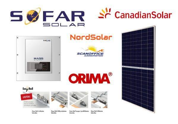 Scanoffice Premium aurinkosähköjärjestelmä