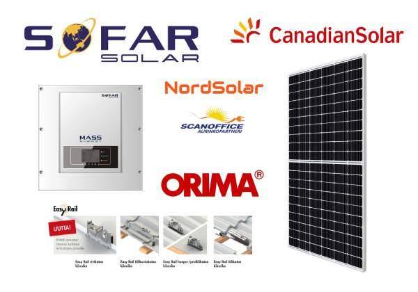 Premium HC PERC aurinkosähköjärjestelmä